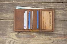 9f3e6fc5306b Copper Rough   Tough Leather Small Window Bifold Wallet