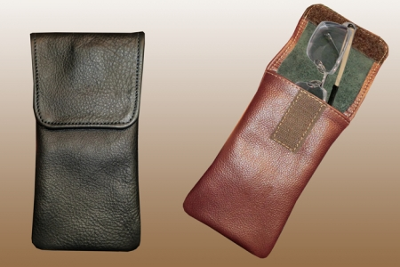 Popular Soft Leather Eyeglass Case: North Star Leather Co. PD06