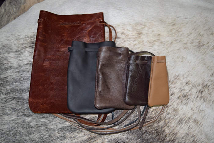 60165f1bbeea Drawstring Pouches: North Star Leather Co.